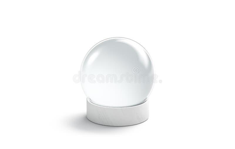 空白白色水晶不可思议的球嘲笑,隔绝 向量例证
