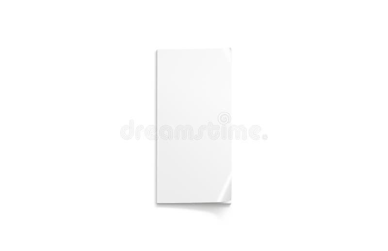 空白白色稀薄的接近的杂志大模型,a6顶视图 向量例证