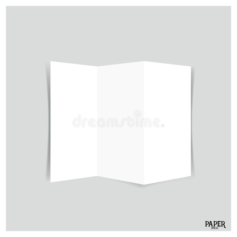 空白的三叶小册子,空白的三部合成的纸小册子大模型 皇族释放例证