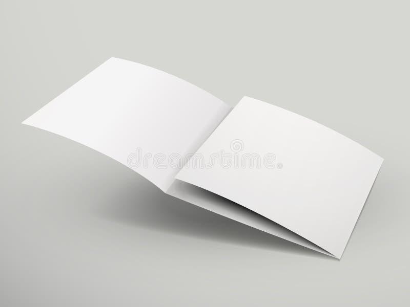 空白的三部合成的小册子设计 向量例证
