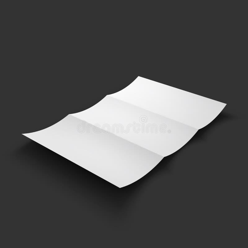空白的三部合成的纸小册子大模型 皇族释放例证