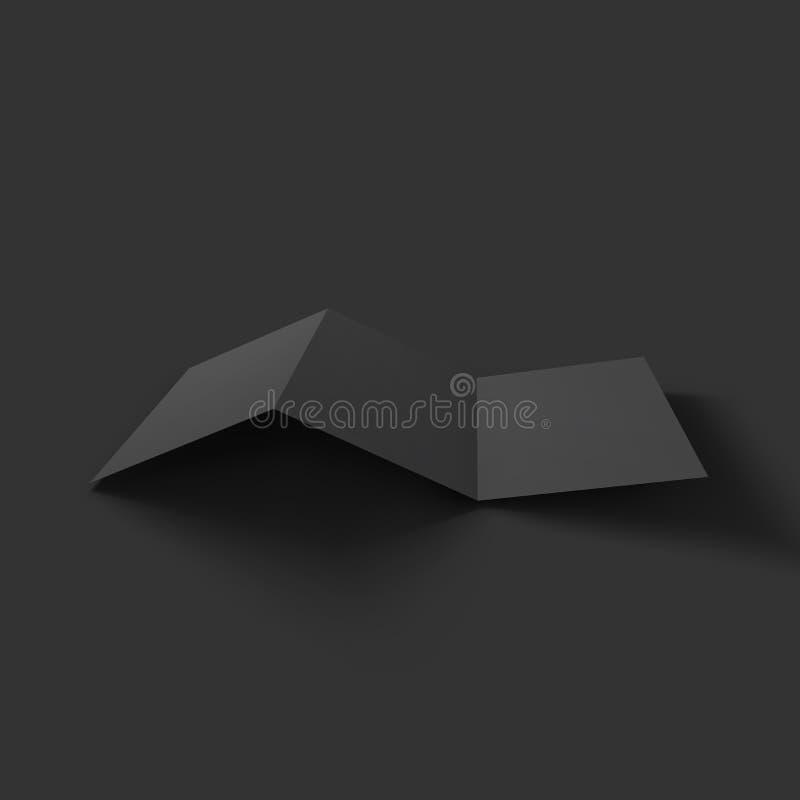 空白的三部合成的纸小册子大模型 库存例证