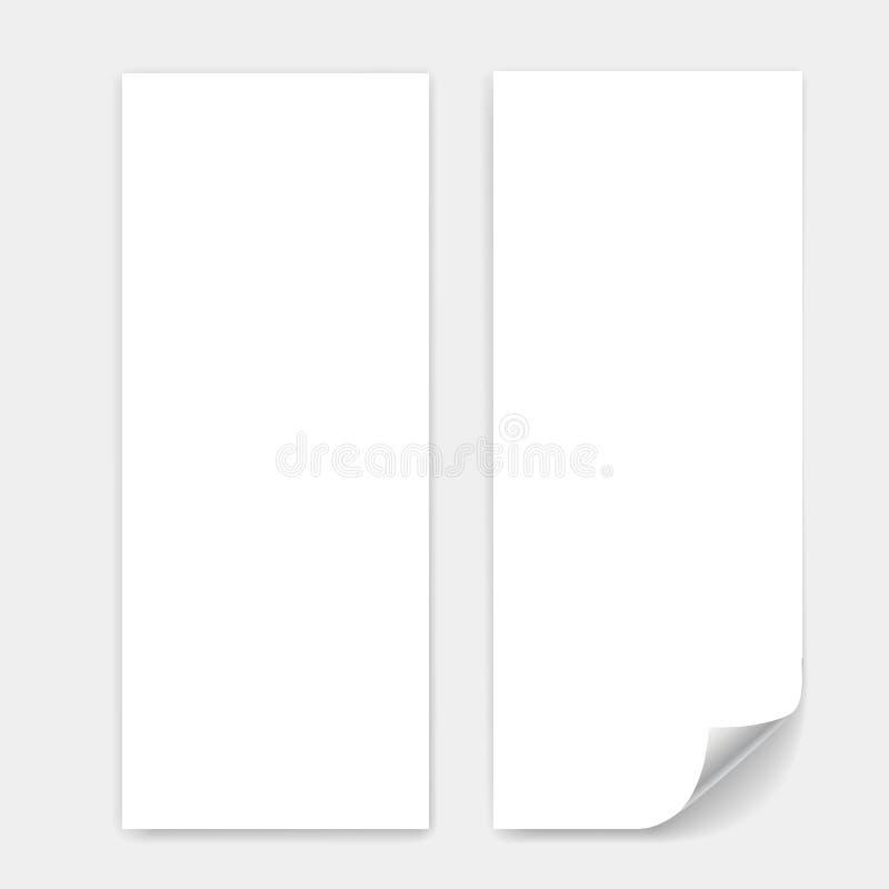 空白的三部合成的纸板料 库存图片