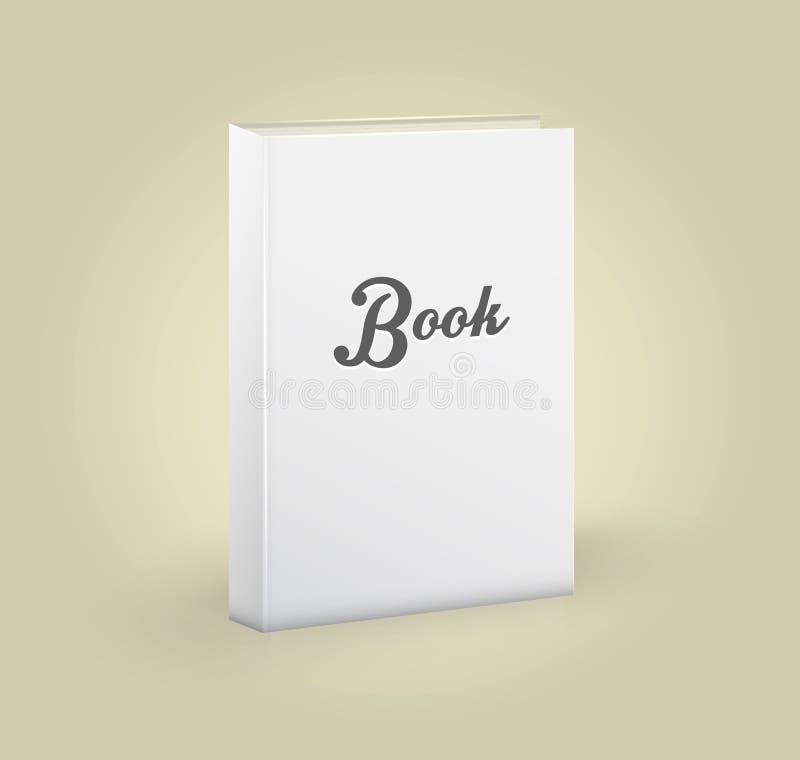 空白的书正面图  库存例证