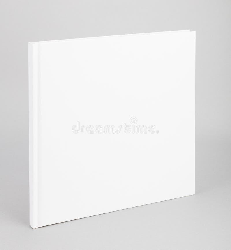 空白的书白色盖子8,5 x 8,5寸 库存图片