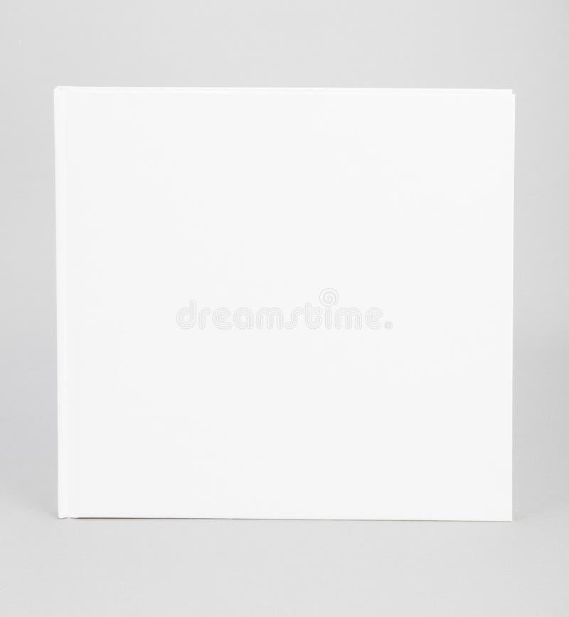 空白的书白色盖子8,5 x 8,5寸 免版税库存照片
