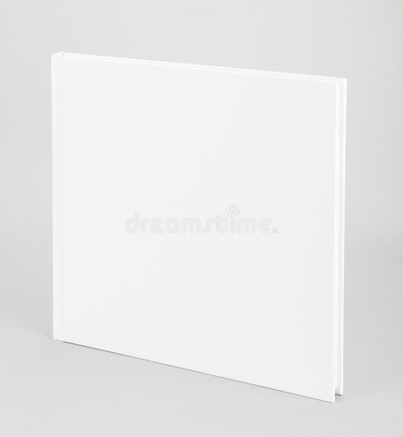 空白的书白色盖子8,5 x 8,5寸 库存照片