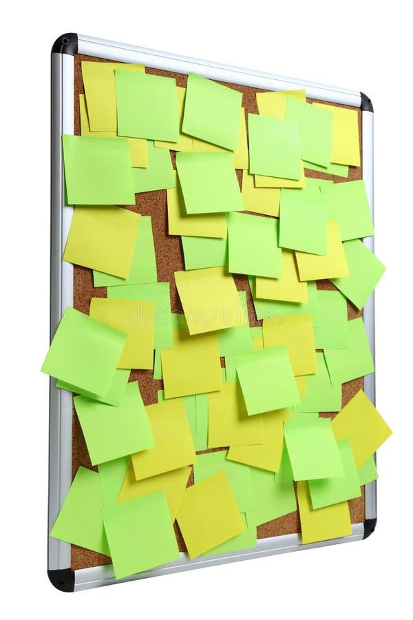 空白的五颜六色的稠粘的笔记的图象关于黄柏插脚板的 免版税库存照片