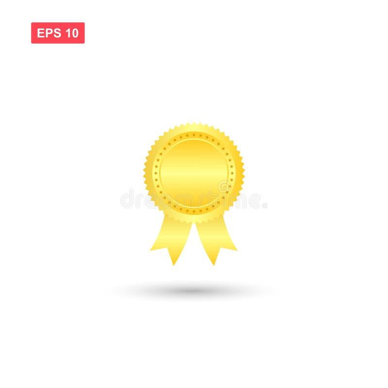 空白的传染媒介授予奖牌2 皇族释放例证