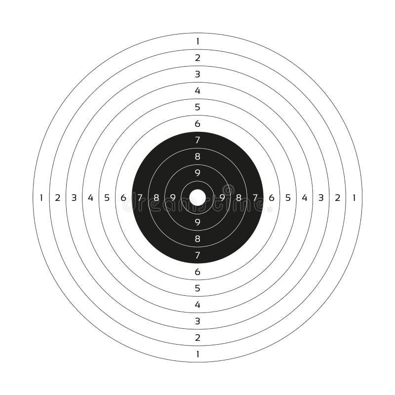 空白的传染媒介枪目标,纸射击目标,空白的模板 皇族释放例证
