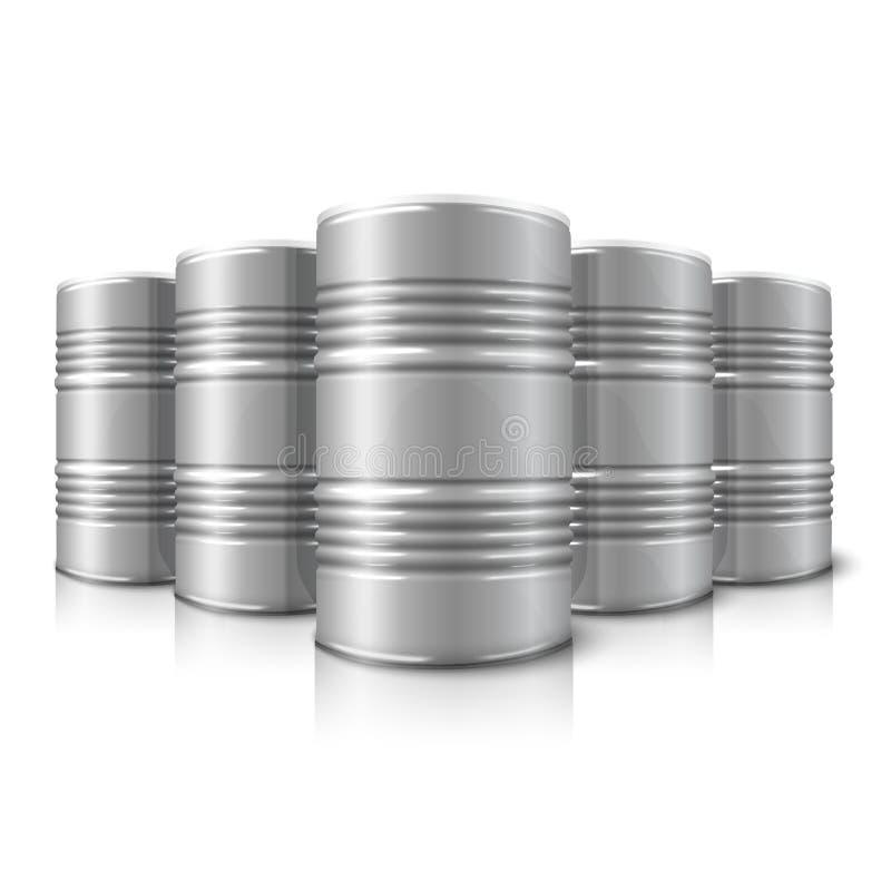 空白的传染媒介现实大油桶 皇族释放例证