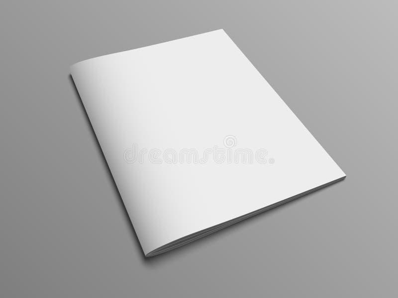 空白的传染媒介编目或小册子盖子嘲笑 库存例证