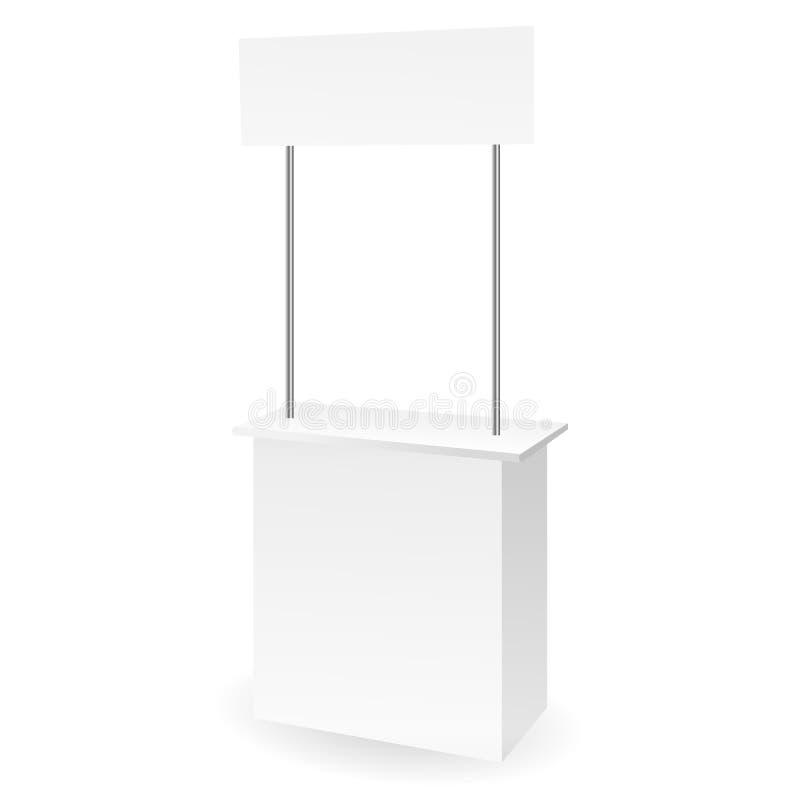 空白的促进柜台 向量例证