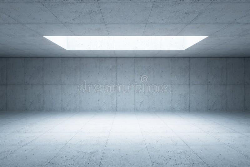 空白的具体空间内部, 3d翻译 皇族释放例证