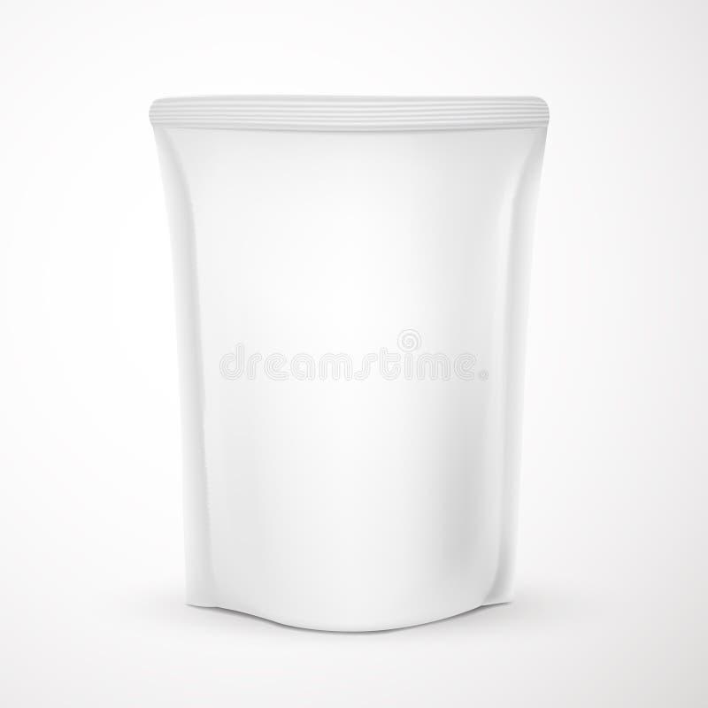 空白的包装的模板 向量例证