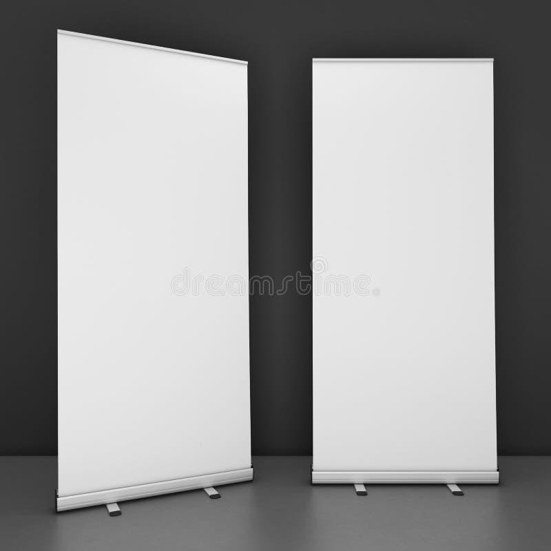 空白的卷状食物横幅模板 向量例证
