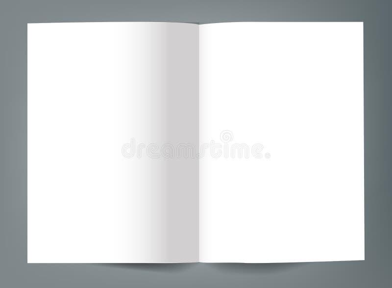 空白的双折叠小册子大模型盖子模板 库存例证