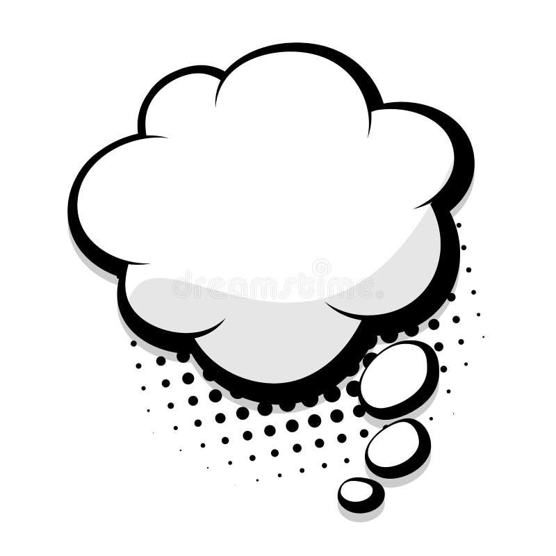 空白的可笑的讲话云彩泡影 向量例证