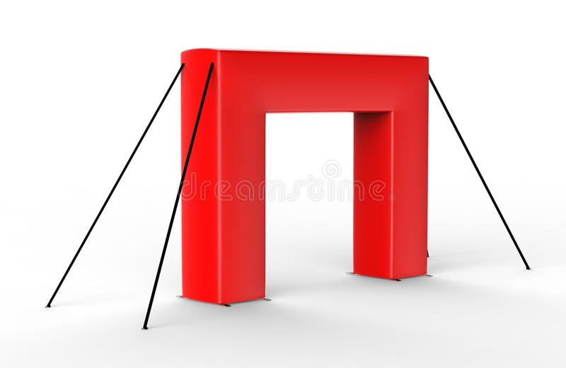 空白的可膨胀的方形的拱砖管或事件入口门 3d例证回报 向量例证