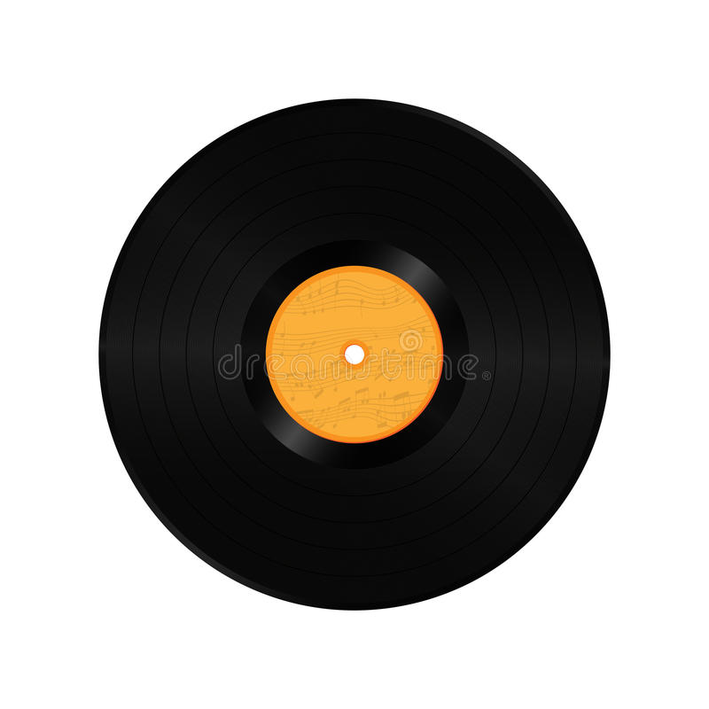空白的唱片慢转 向量例证