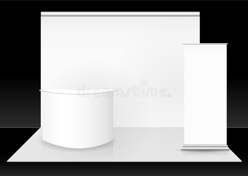空白的商业展览摊 库存例证
