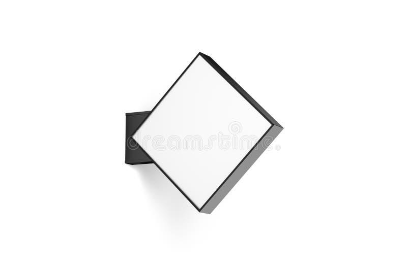 空白的商店rhomus标志大模型 免版税图库摄影