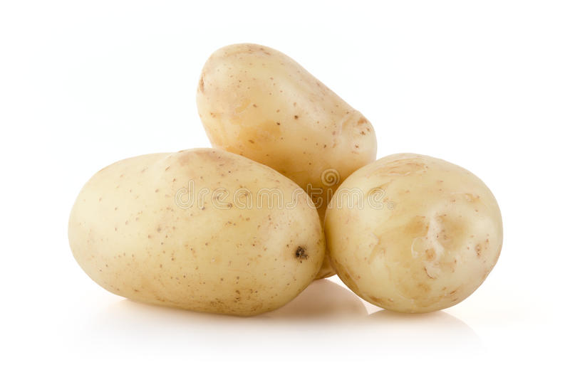 空白的土豆 库存照片