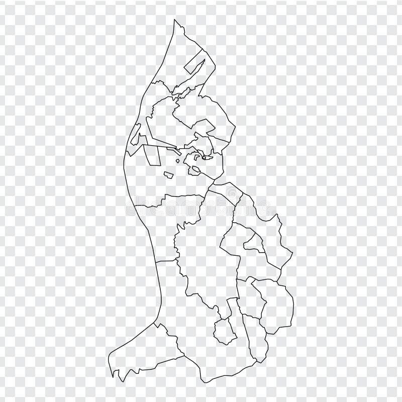 空白的地图列支敦士登 列支敦士登的优质地图有省的在您的网站设计的透明背景,lo 皇族释放例证