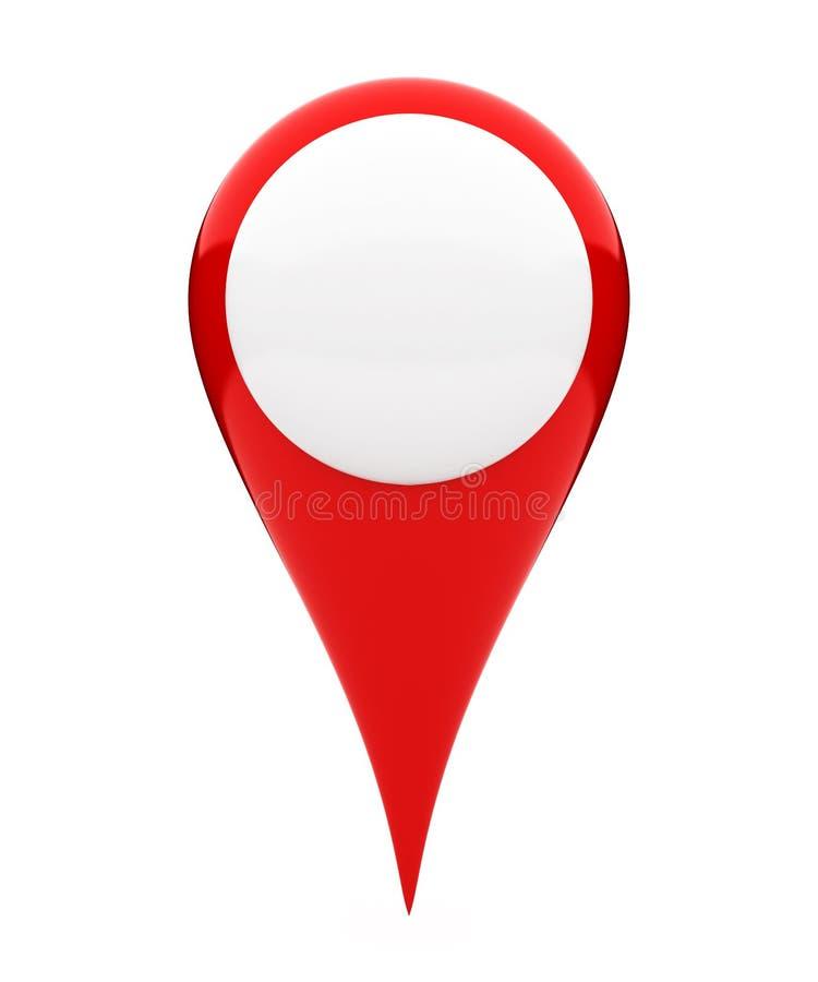 空白的地点标志 库存例证