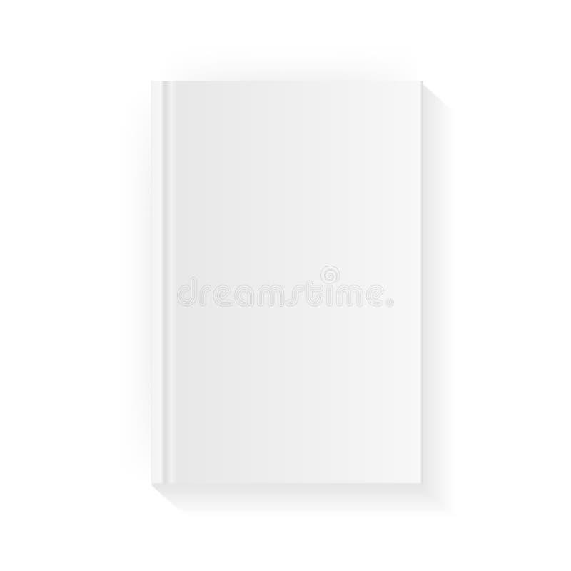 空白的垂直的书套模板 闭合的杂志或笔记本的嘲笑 背景查出的白色 向量 向量例证