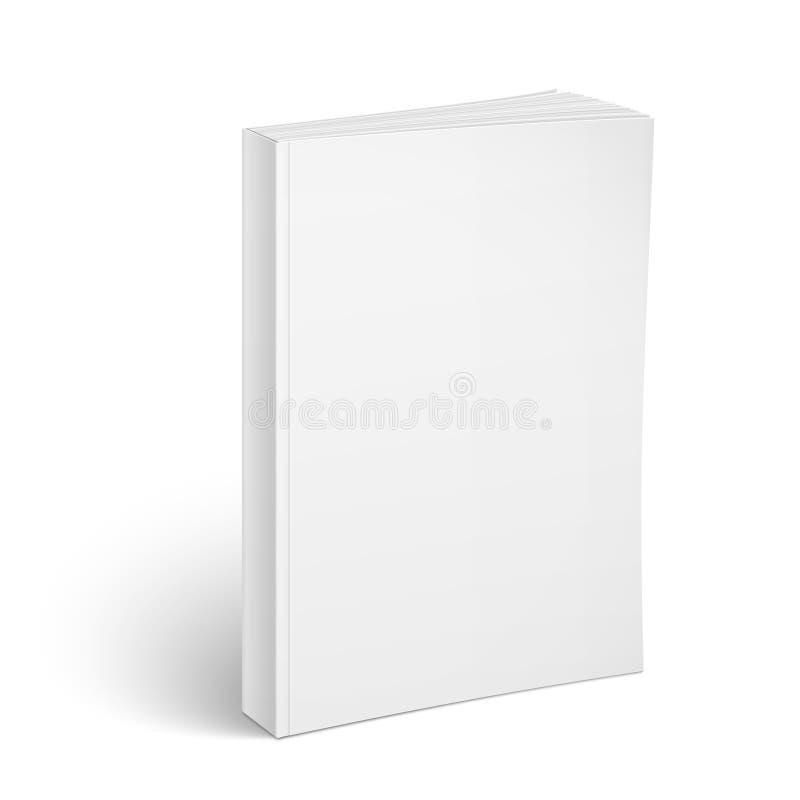 空白的垂直的软封面的书模板 库存例证