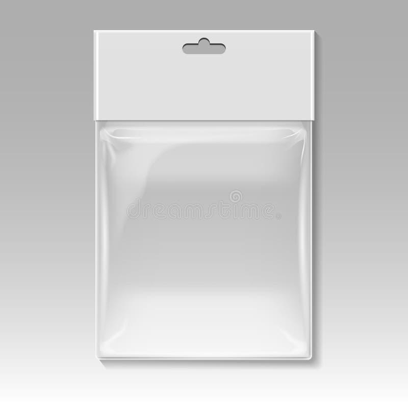空白的塑料口袋袋子传染媒介模板 皇族释放例证