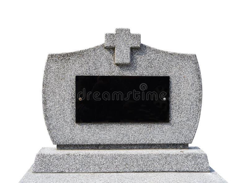 空白的墓碑我(裁减路线) 免版税图库摄影