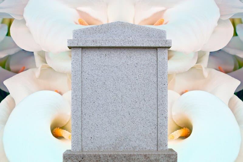 空白的墓碑 免版税库存照片