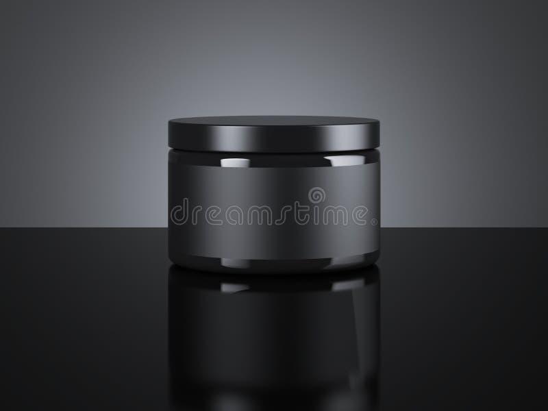 黑空白的奶油色包裹 3d翻译 向量例证