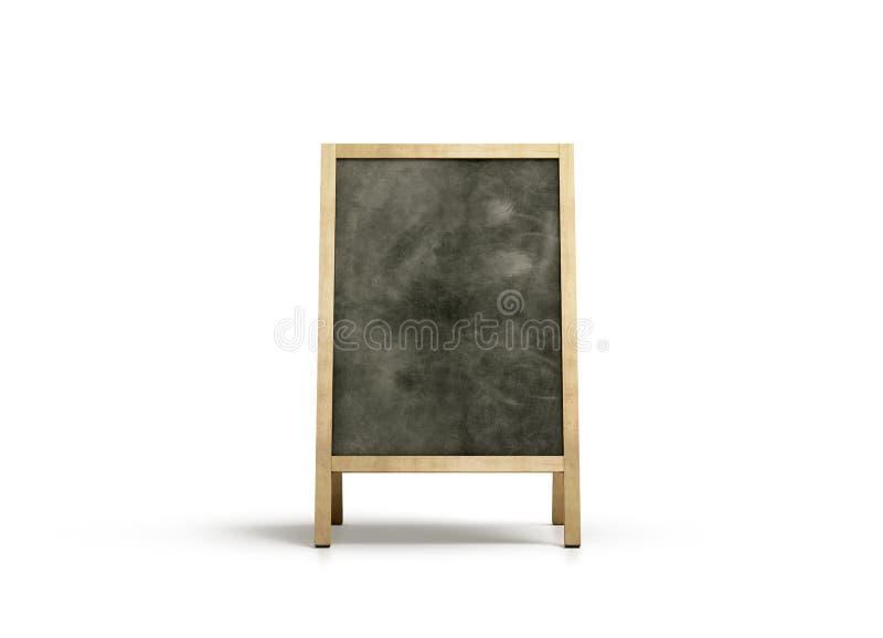 空白的室外黑板立场大模型,正面图 免版税库存图片