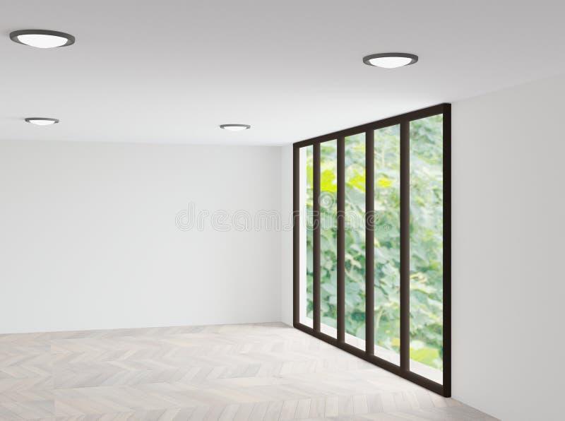空白的室3D翻译 皇族释放例证