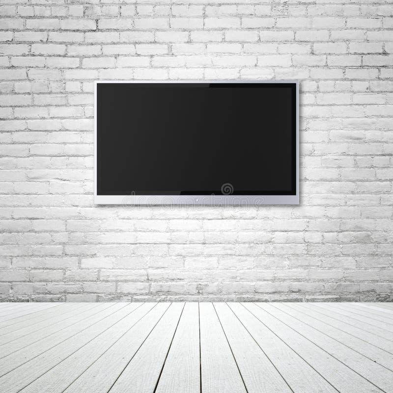 空白的宽银幕电视 库存图片