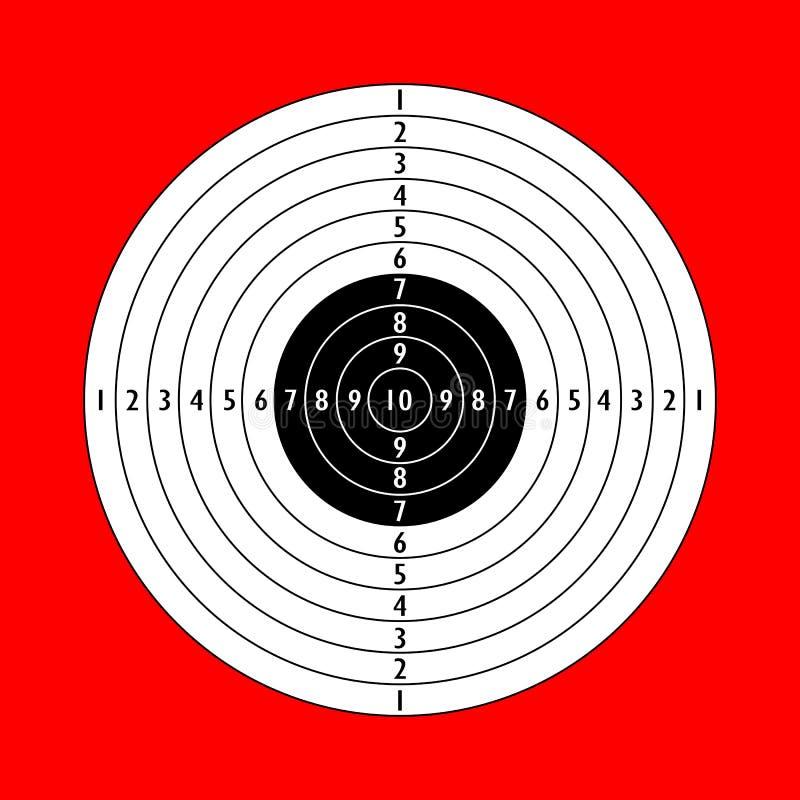 空白的射击目标 皇族释放例证