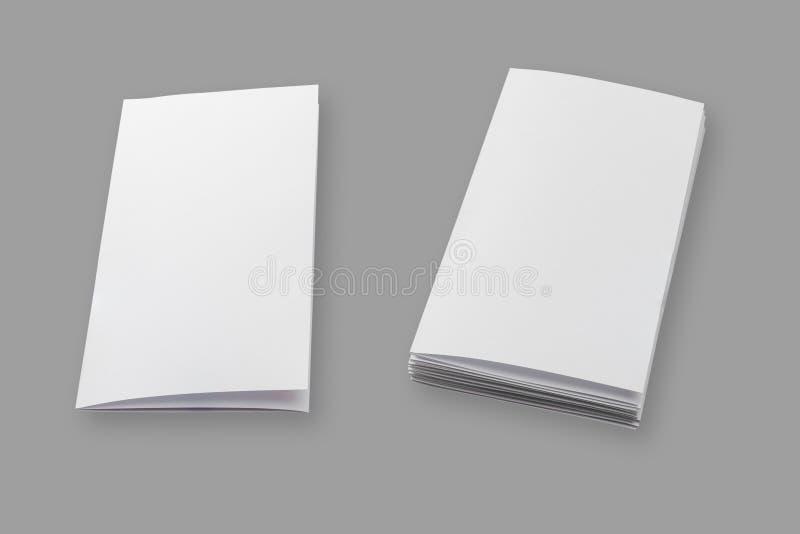 空白的小册子纸 库存照片