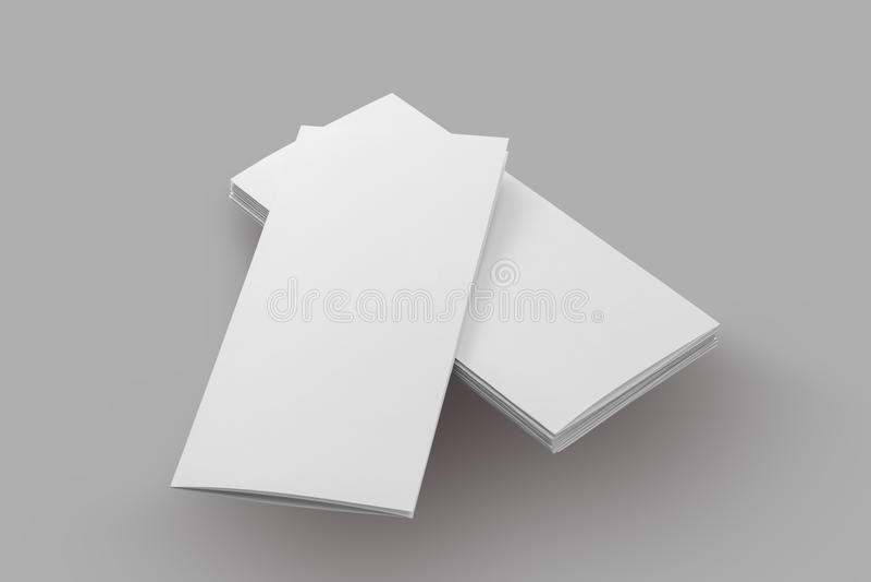 空白的小册子纸 免版税库存图片