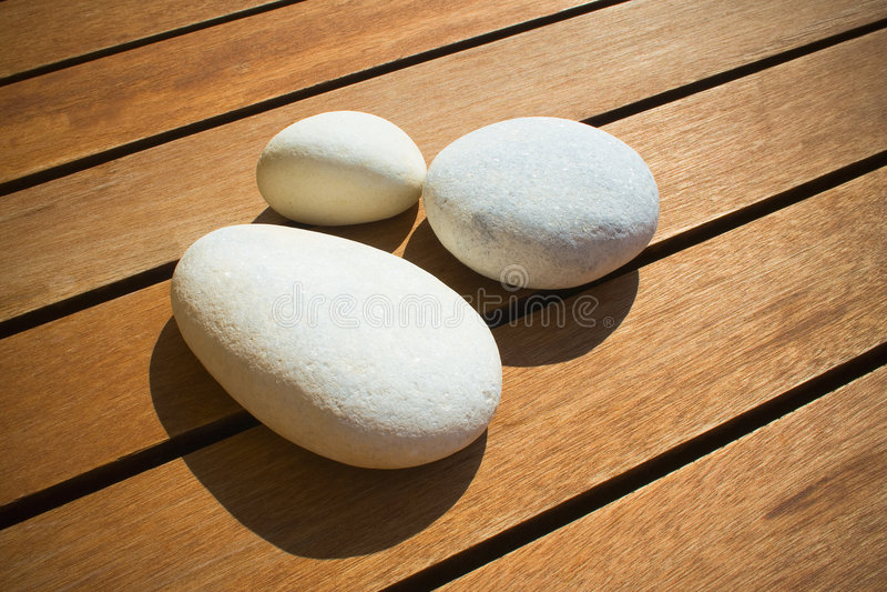 空白的小卵石 库存照片
