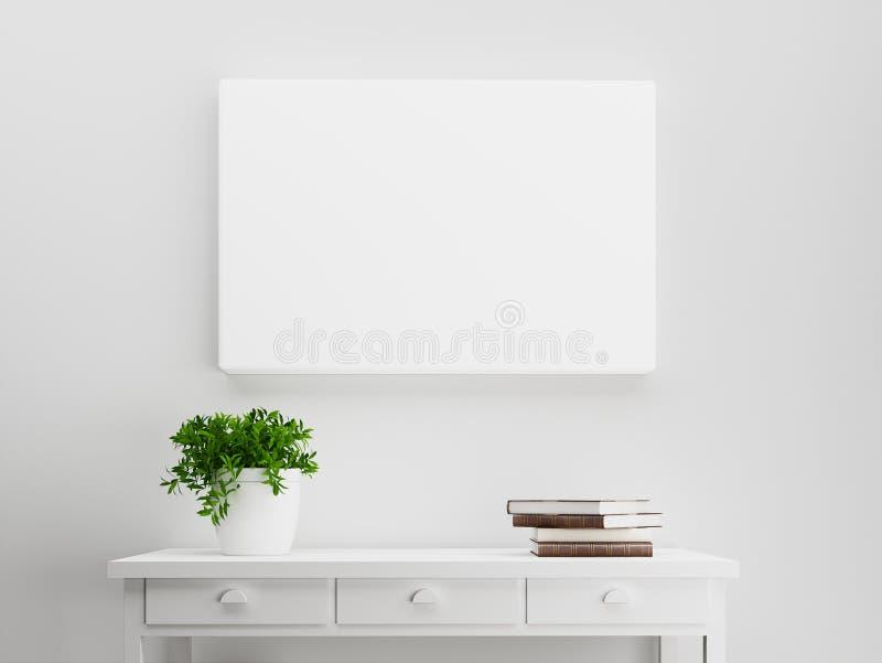 空白的帆布风景大模型 库存例证