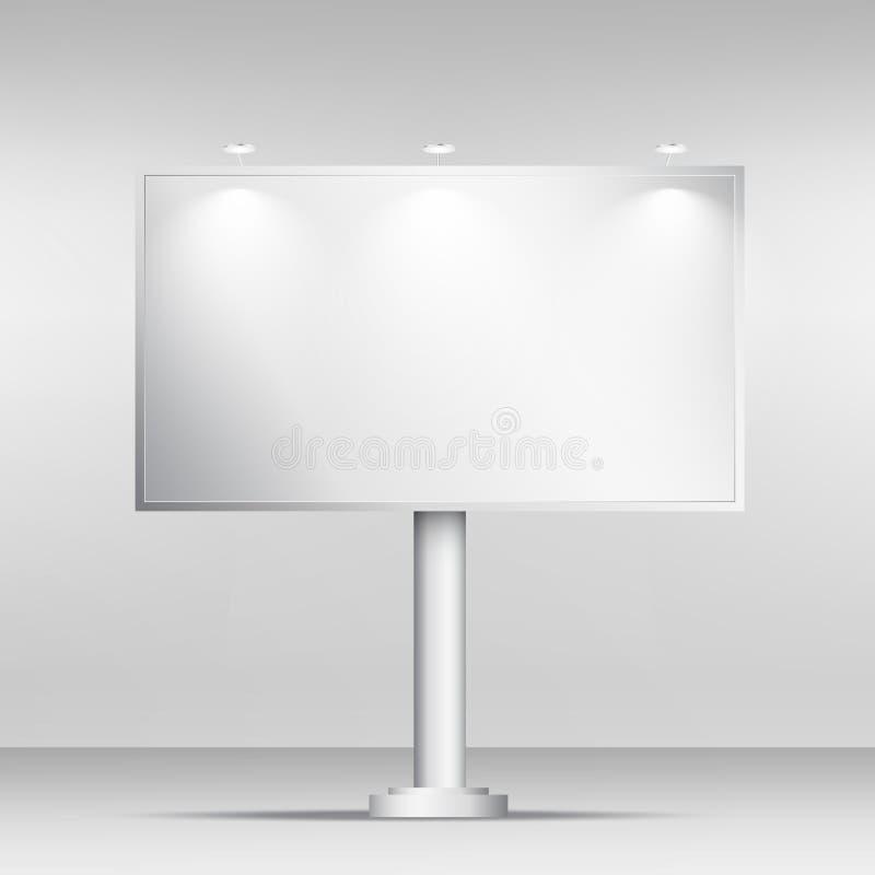 空白的广告牌大模型设计模板 向量例证