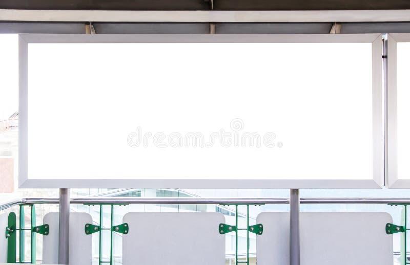 空白的广告牌 免版税库存图片