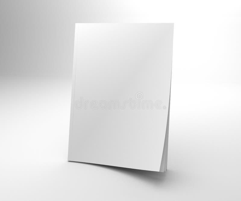 空白的开头角落3D例证杂志嘲笑 皇族释放例证