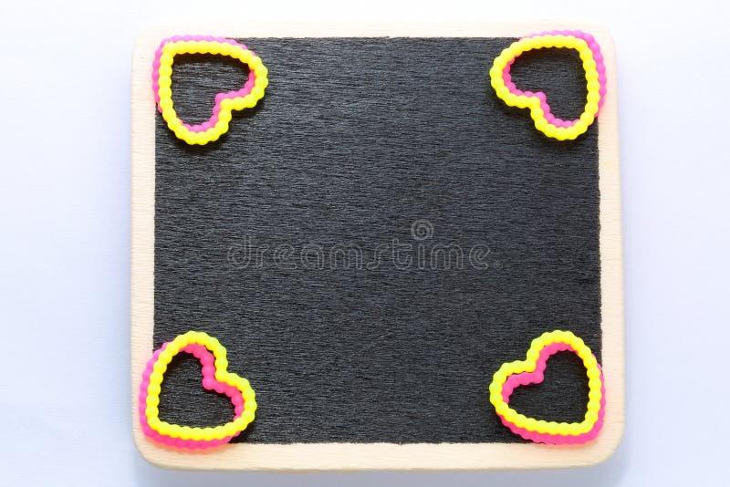 空白的微型黑板 库存照片
