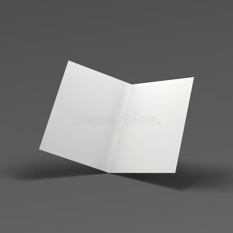 空白的折叠纸小册子 皇族释放例证