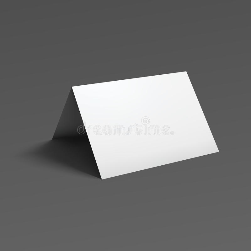 空白的折叠纸小册子 向量例证
