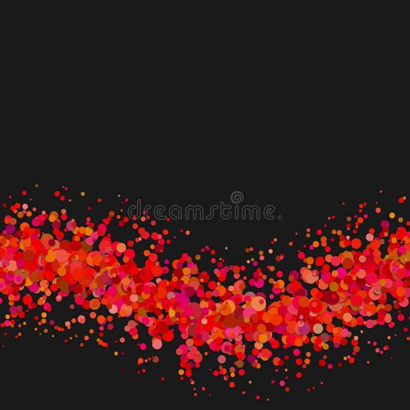 空白的抽象波浪分散了五彩纸屑加点背景模板 向量例证
